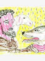 06-c-sottocornola-francesco-e-il-lupo-ispirato-al-racconto-san-francesco-e-il-lupo-di-gubbio